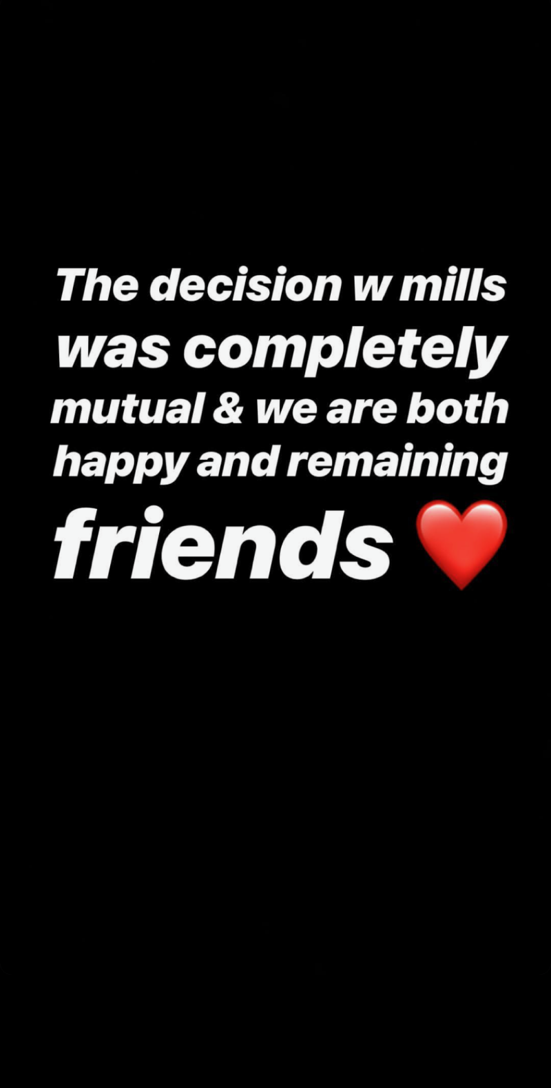 Jacob Sartorius posted a similar statement about the split with Millie Bobby Brown on Instagram stories [Photo: Instagram]