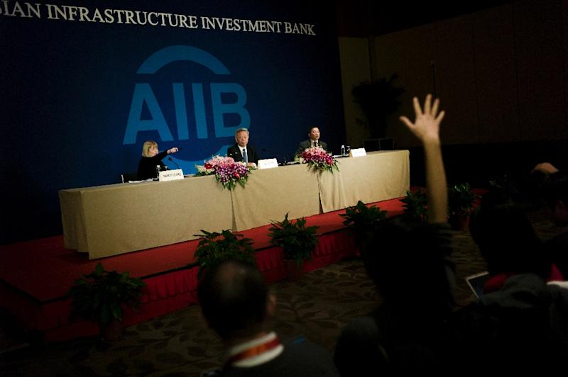 The Beijing-based Asian Infrastructure Investment Bank (AIIB) has been seen by some as a rival to the World Bank and the Philippines-based Asian Development Bank (AFP Photo/Fred Dufour)