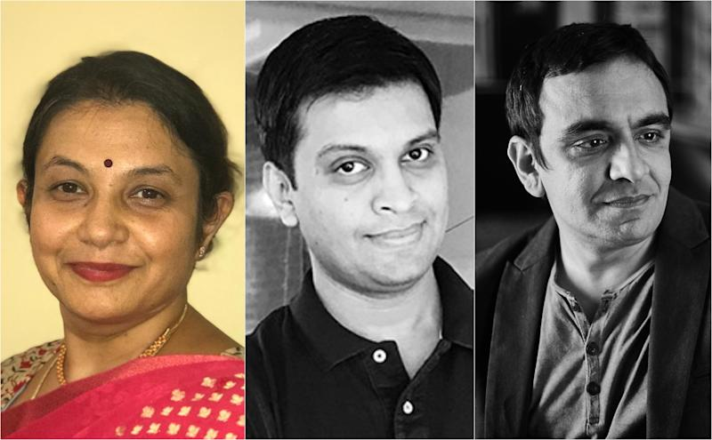 Ranjani Krishnaswamy, Tejas Mehta (center) and Amit Akali (right).