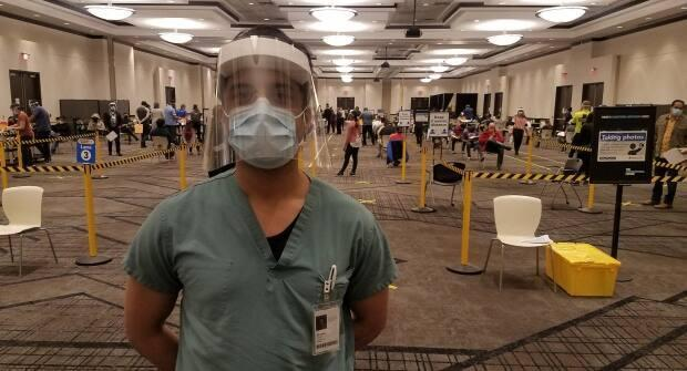 Dr. Lawrence Loh, Peel Region's medical officer of health, at a vaccination clinic in Mississauga.