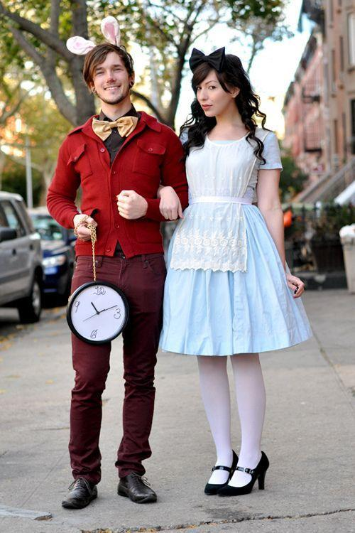 """<p>There's no reason to go down the rabbit hole if you're looking last minute for a great couple's costume. You probably already have almost everything you need to duplicate this wonderful """"<a href=""""https://www.countryliving.com/diy-crafts/g29343502/alice-in-wonderland-costume-ideas/"""" rel=""""nofollow noopener"""" target=""""_blank"""" data-ylk=""""slk:Alice in Wonderland"""" class=""""link rapid-noclick-resp"""">Alice in Wonderland</a>"""" costume—including a wall clock for the White Rabbit's pocket watch.</p><p><strong>Get the tutorial at <a href=""""http://keikolynn.com/2010/10/happy-halloween-2/"""" rel=""""nofollow noopener"""" target=""""_blank"""" data-ylk=""""slk:Keiko Lynn"""" class=""""link rapid-noclick-resp"""">Keiko Lynn</a>.</strong></p><p><a class=""""link rapid-noclick-resp"""" href=""""https://www.amazon.com/Leg-Avenue-Headband-Costume-Accessory/dp/B00UM4GG2K/ref=sr_1_8?tag=syn-yahoo-20&ascsubtag=%5Bartid%7C10050.g.4616%5Bsrc%7Cyahoo-us"""" rel=""""nofollow noopener"""" target=""""_blank"""" data-ylk=""""slk:Shop Bunny Ears"""">Shop Bunny Ears</a><br></p>"""