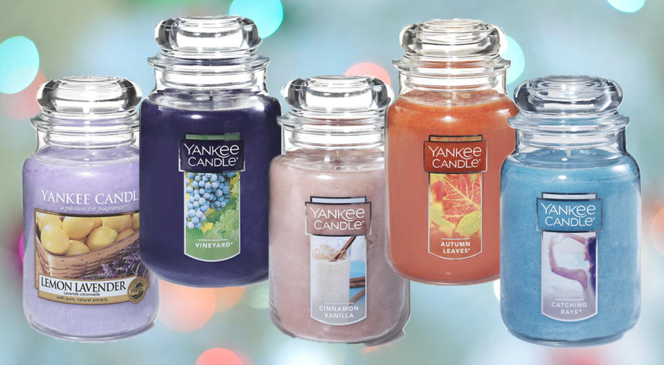 Pick up a Yankee Candle and fill your home with yummy smells for up to 39 percent off. (Photo: Amazon)