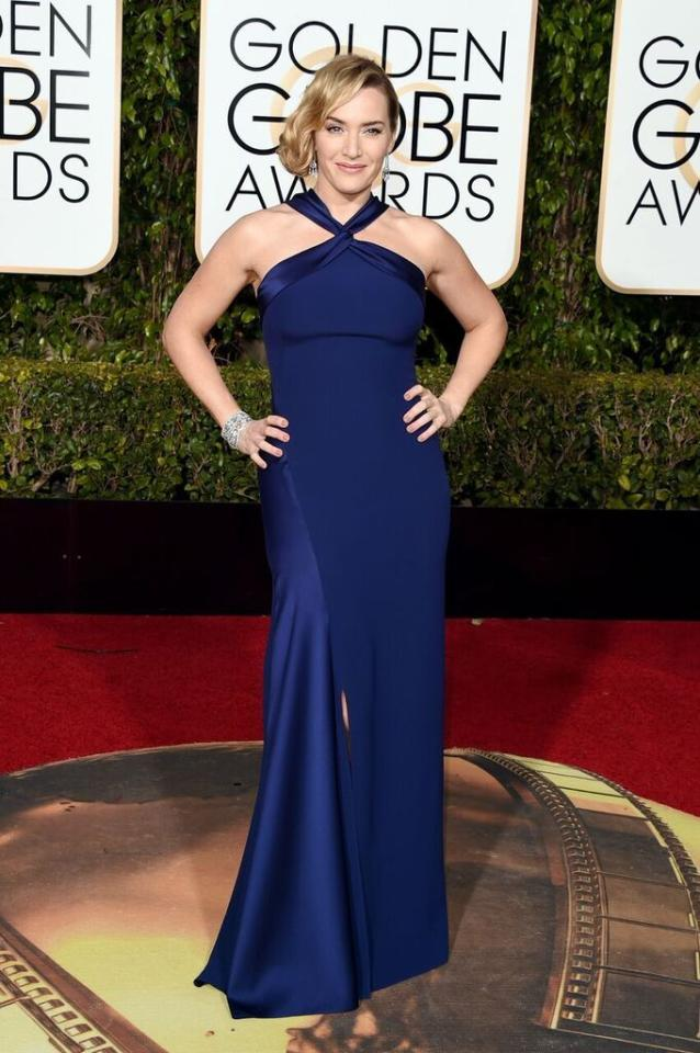 Worst: Kate Winslet in Ralph Lauren at the 73rd Annual Golden Globe Awards.