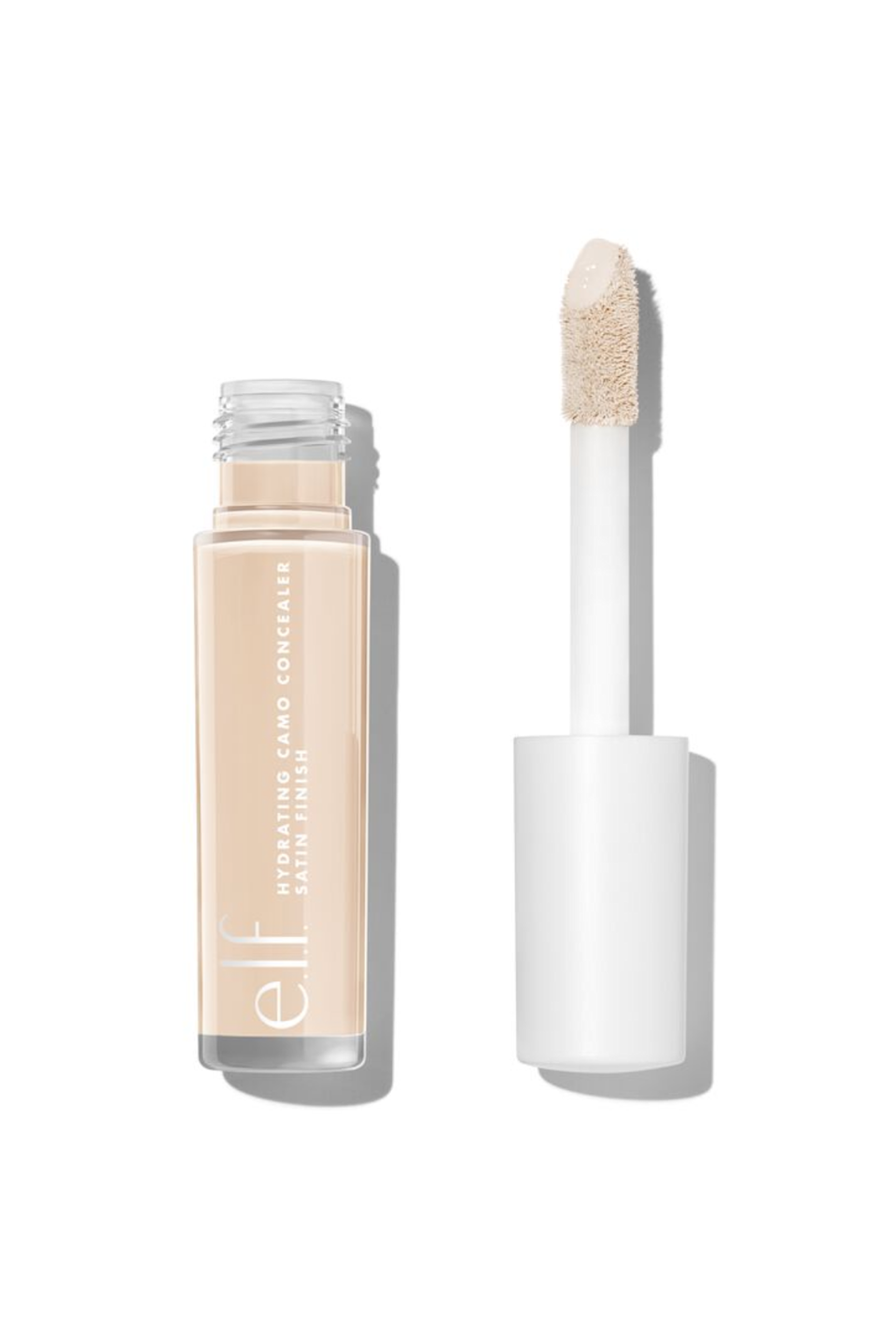 """<p><strong>e.l.f. Cosmetics</strong></p><p>ulta.com</p><p><strong>$6.00</strong></p><p><a href=""""https://go.redirectingat.com?id=74968X1596630&url=https%3A%2F%2Fwww.ulta.com%2Fp%2Fhydrating-camo-concealer-pimprod2013395&sref=https%3A%2F%2Fwww.seventeen.com%2Fbeauty%2Fmakeup-skincare%2Fg36866431%2Fbest-elf-makeup-skincare-products%2F"""" rel=""""nofollow noopener"""" target=""""_blank"""" data-ylk=""""slk:Shop Now"""" class=""""link rapid-noclick-resp"""">Shop Now</a></p><p>If you want a full-coverage concealer without the cakiness, look no further. E.L.F.'s Hydrating Camo Concealer comes in a range of 25 shades and is infused with Rose Flower Water to moisturize skin.</p>"""