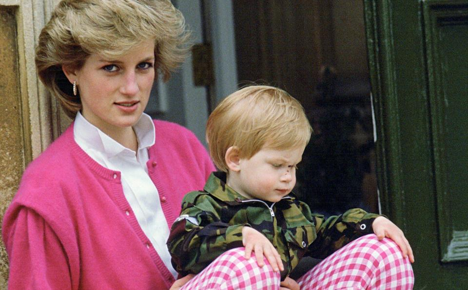 Diana remains freeze-framed in Harry's mind as a young woman - Getty
