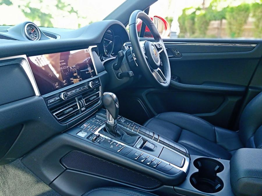 Inside it's Porsche at its best: quality surfaces and precision design. The cabin is not like the Cayenne with its touchscreens and instead is a bit button-heavy. However, the quality is second to none. The biggest change are the 10.9-inch, full HD touchscreen with a slicker display.