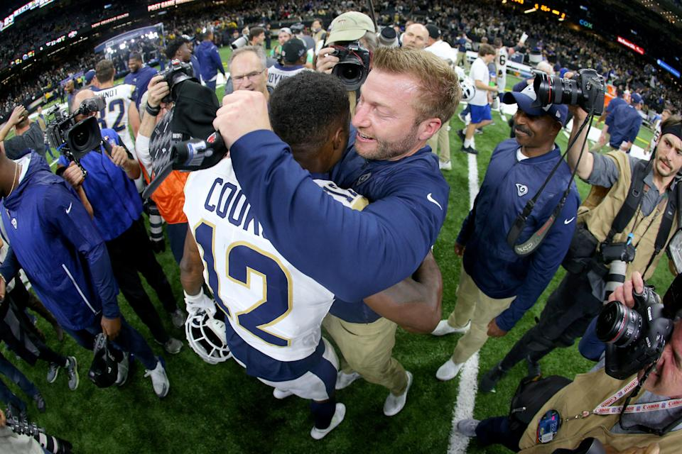 Brandin Cooks has fit right in with the family atmosphere of the Los Angeles Rams. (Getty Images)