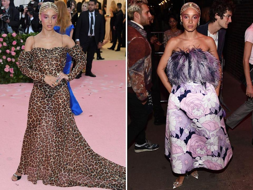 Adwoa Aboah at the 2019 Met Gala and an after-party.