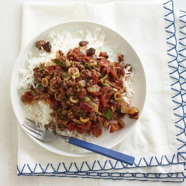"<p>The secret to getting big flavor into another 20-minute dish? A good helping of nice, briny olives.</p><p><a href=""https://www.goodhousekeeping.com/food-recipes/a15969/quick-sauteed-cuban-beef-recipe-wdy1114/"" rel=""nofollow noopener"" target=""_blank"" data-ylk=""slk:Get the recipe for Quick Sautéed Cuban Beef »"" class=""link rapid-noclick-resp""><span class=""redactor-invisible-space""><span class=""redactor-invisible-space""><em>Get the recipe for Quick Sautéed Cuban Beef »</em></span> </span></a></p>"