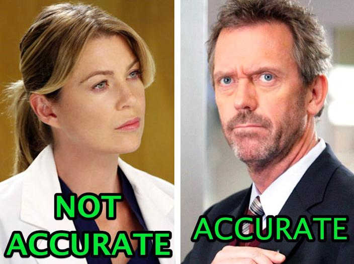 Medical experts had a lot of things to say about popular TV shows.