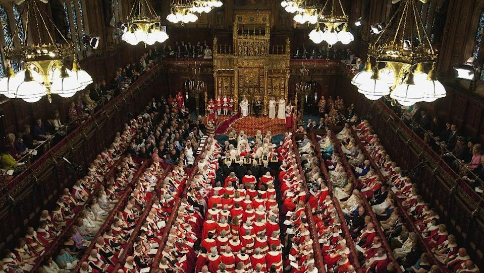 Britain's House of Lords with 822 members, is the second-largest parliamentary chamber in the world, beaten only by China's National People's Congress (AFP Photo/Alastair Grant)