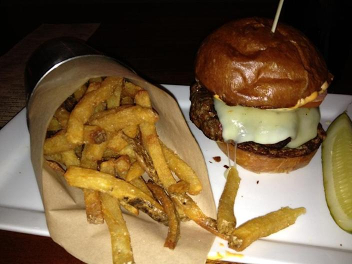 """<p><a href=""""http://citizenburgerbar.com/"""" rel=""""nofollow noopener"""" target=""""_blank"""" data-ylk=""""slk:Citizen Burger Bar"""" class=""""link rapid-noclick-resp"""">Citizen Burger Bar</a>, Charlottesville</p><p>""""Delicious burgers & an expansive beer list. The truffle fries & shishito peppers are a must try and every burger is delicious. I always leave here stuffed & happy."""" -Foursquare user <a href=""""https://foursquare.com/user/79193708"""" rel=""""nofollow noopener"""" target=""""_blank"""" data-ylk=""""slk:Christy J"""" class=""""link rapid-noclick-resp"""">Christy J</a></p>"""