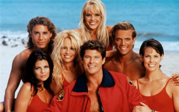 David Hasselhoff and co in the original TV series 'Baywatch' (credit: NBC)