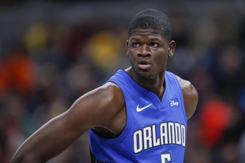 Mo Bamba #5 of the Orlando Magic is seen during the game against the Indiana Pacers