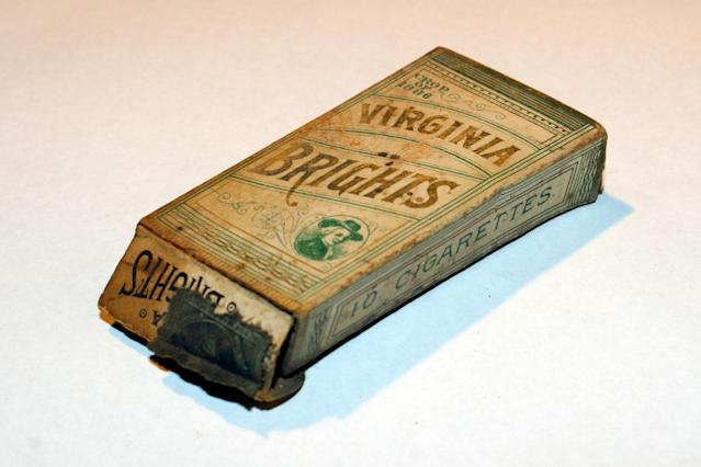 <p>This Virginia Brights package was found on the second floor of 97 Orchard St. under floorboards in the kitchen of Apartment 14 in 2008. (Photo: Caters News) </p>