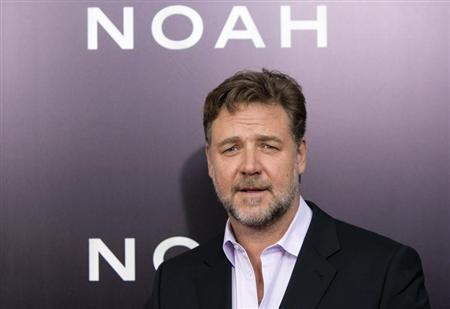 """Cast member Russell Crowe attends the U.S. premiere of """"Noah"""" in New York"""