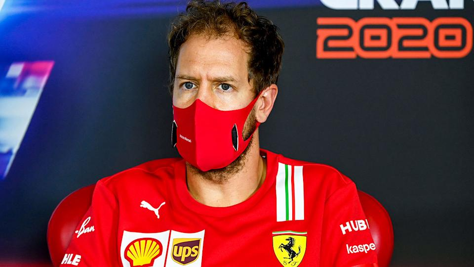 Pictured here, four-time world champion and former Ferrari star Sebastian Vettel.