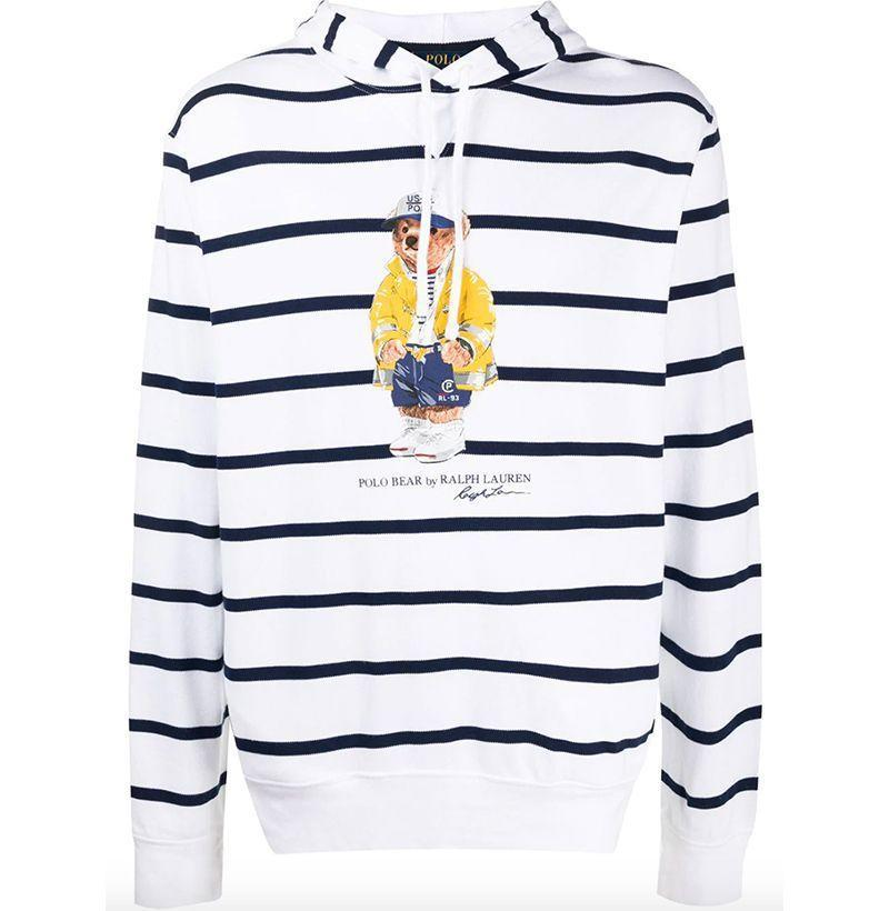 """<p><strong>Polo Ralph Lauren</strong></p><p>farfetch.com</p><p><strong>$229.00</strong></p><p><a href=""""https://go.redirectingat.com?id=74968X1596630&url=https%3A%2F%2Fwww.farfetch.com%2Fshopping%2Fmen%2Fpolo-ralph-lauren-striped-hoodie-item-15630143.aspx&sref=https%3A%2F%2Fwww.esquire.com%2Fstyle%2Fmens-fashion%2Fg3357%2Fbest-hoodies-men%2F"""" rel=""""nofollow noopener"""" target=""""_blank"""" data-ylk=""""slk:Buy"""" class=""""link rapid-noclick-resp"""">Buy</a></p><p>A nautical take with a cuddly twist. </p>"""