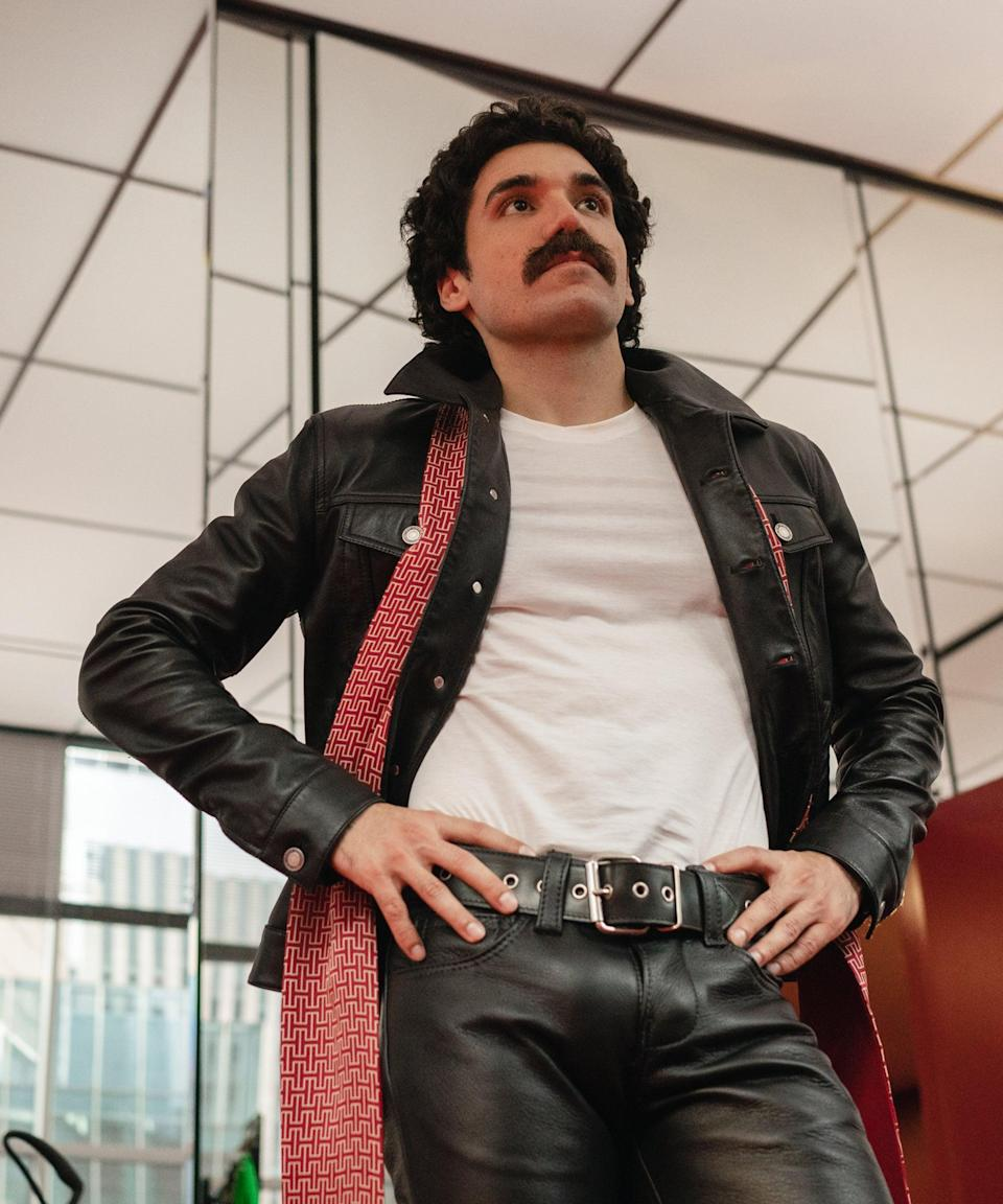 """<h2>Gian Franco Rodriguez as Victor Hugo<br></h2><br>Victor Hugo marks Rodriguez's first major television role, but he does have a handful of shorts to his name in Venezuela. """"Gian Franco met the challenge of this larger-than-life character who was a Dada artist, hustler, sexual outlaw and general disruptor. He made us laugh every day,"""" <a href=""""https://www.hollywoodreporter.com/tv/tv-news/ewan-mcgregor-halston-photos-netflix-4174065/"""" rel=""""nofollow noopener"""" target=""""_blank"""" data-ylk=""""slk:said McGregor of his co-star"""" class=""""link rapid-noclick-resp"""">said McGregor of his co-star</a>, in a recent interview with <em>The Hollywood Reporter.</em>"""