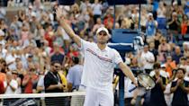 """<p><span>Although he went pro in 2000, Andy Roddick had his breakout year in 2003, when he beat Andre Agassi, made it to the semifinals at Wimbledon, and won the US Open, according to the ITHOF. His crushing power had a lot to do with his 32 career singles titles. His 152-mph serve remains the fastest ever recorded in a Grand Slam tournament.</span></p> <p><a href=""""https://www.gobankingrates.com/net-worth/sports/what-is-andy-roddick-net-worth/?utm_campaign=1130237&utm_source=yahoo.com&utm_content=17&utm_medium=rss"""" rel=""""nofollow noopener"""" target=""""_blank"""" data-ylk=""""slk:See what his total net worth sits at now."""" class=""""link rapid-noclick-resp"""">See what his total net worth sits at now.</a></p> <p><em><strong>Find Out: </strong></em><em><strong><a href=""""https://www.gobankingrates.com/net-worth/sports/nfl-hall-famer-highest-net-worth/?utm_campaign=1130237&utm_source=yahoo.com&utm_content=18&utm_medium=rss"""" rel=""""nofollow noopener"""" target=""""_blank"""" data-ylk=""""slk:Which NFL Hall of Famer Has the Highest Net Worth?"""" class=""""link rapid-noclick-resp"""">Which NFL Hall of Famer Has the Highest Net Worth?</a></strong></em></p> <p><small>Image Credits: Darron Cummings/AP/Shutterstock</small></p>"""