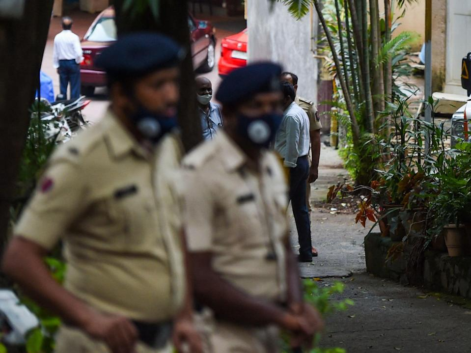 File image: Police stand guard in Mumbai on 7 July 7 2021. (Getty Images)