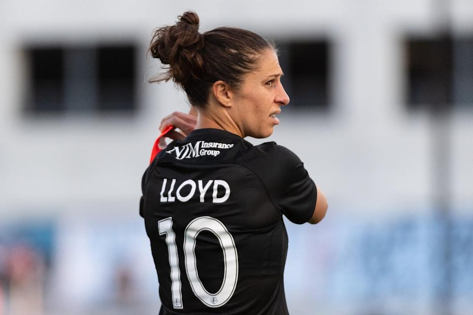 """<p>When it comes to non-soccer-related advice, Lloyd revealed she's constantly getting requests for a hair tutorial on her signature game-day updo. """"<a href=""""http://www.youtube.com/watch?v=RGl6eDgrvkA"""" class=""""link rapid-noclick-resp"""" rel=""""nofollow noopener"""" target=""""_blank"""" data-ylk=""""slk:Everyone is always asking me how I get my bun the way I do"""">Everyone is always asking me how I get my bun the way I do</a>,"""" Lloyd recalled in an interview with The Players' Tribune. The secret? Using two rubber bands that aren't too stretched out and """"wrapping it around twice.""""</p>"""