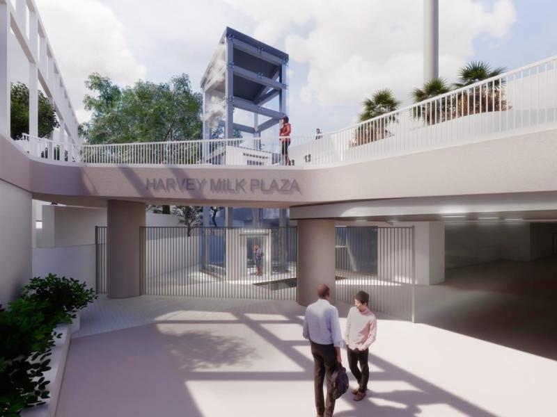 The design chosen for the new elevator, which will begin construction in late 2020.