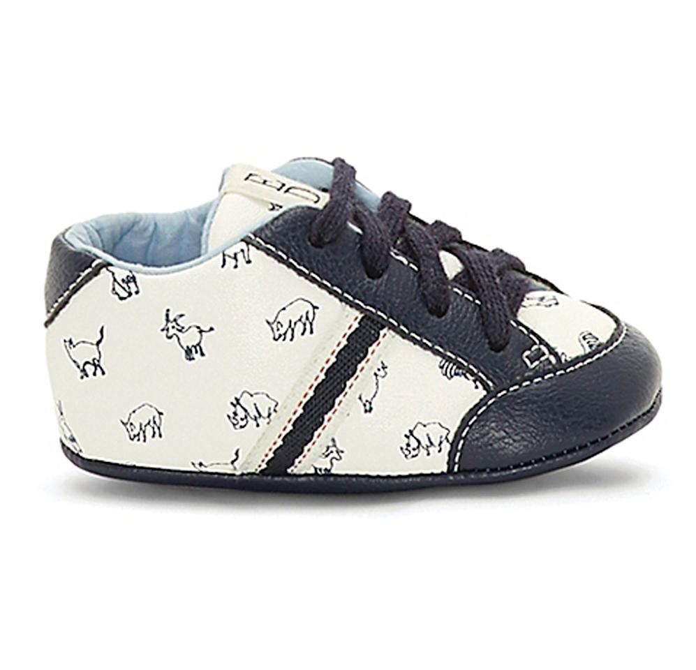 "<p><strong>Shop It!</strong> Animal Sneaker in White ($30), <a rel=""nofollow"">buybuybaby.com</a></p>"