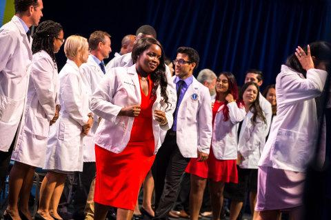 ADDING MULTIMEDIA Ross University School of Medicine Welcomes New Class with White Coat Ceremony