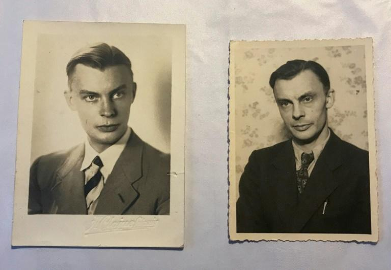 Peter Kroeger - pictured in 1938 and 1948 - was a doctor who had entered the Waffen-SS