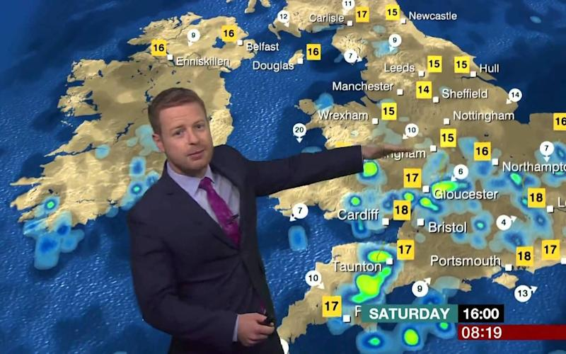 Schafkernaker is usually more concerned about the waves hitting Britain's coast than those lapping at his brow - BBC
