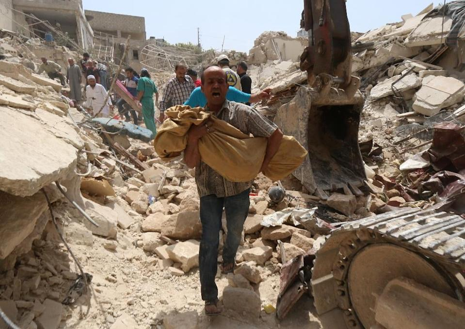 Tens of thousands of civilians have been killed and many more left homeless by repeated air strikes since the start of the Syrian conflict in 2011 (AFP Photo/Zein Al-Rifai)