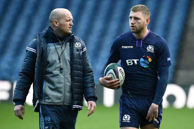 Scotland coach Gregor Townsend (left) has left Finn Russell out of his first two squads in the 2020 Six Nations (AFP Photo/Andy BUCHANAN)