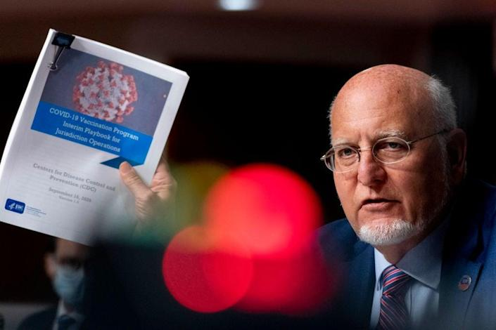 CDC Director Robert Redfield testifies before the Senate in September. (Getty Images)
