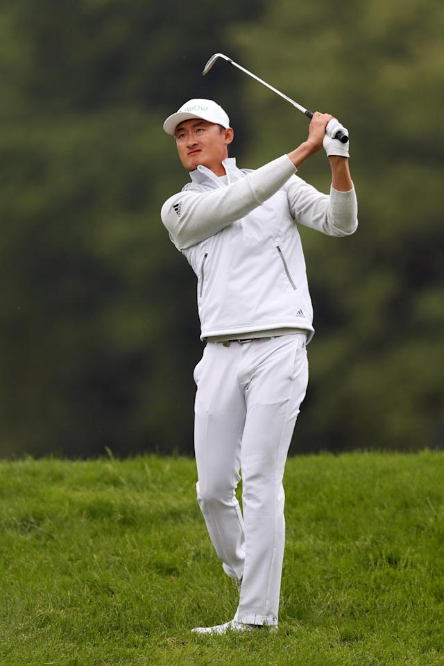 Golf - European Tour - BMW PGA Championship - Wentworth Club, Virginia Water, Britain - May 24, 2018 China's Li Haotong in action during the first round Action Images via Reuters/Paul Childs