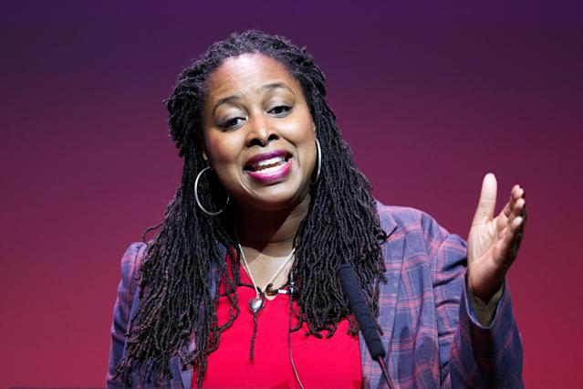 Dawn Butler at a deputy leadership hustings in Glasgow last month. (Robert Perry/Getty Images)