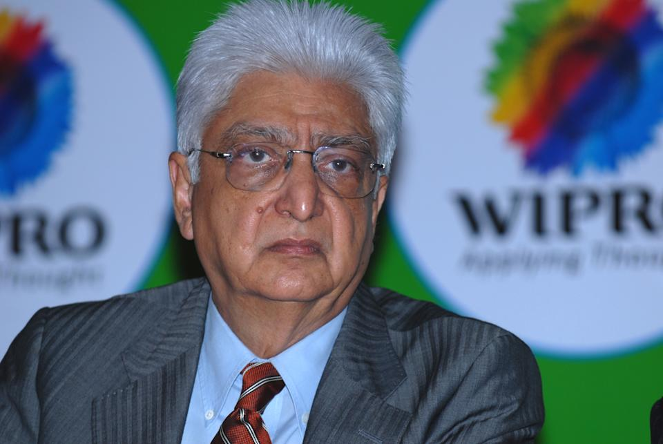 BANGALORE, INDIA JULY 22, 2009: Wipro Chairman Azim Premji during the press conference on companys Q2 2009 results at Wipro headquarters in Sarjapur Road, Bangalore. (Photo by Hemant Mishra/Mint via Getty Images)