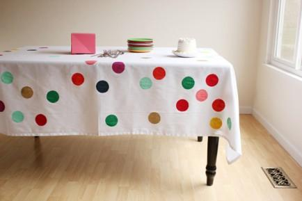 "<div class=""caption-credit""> Photo by: Oh Happy Day</div><div class=""caption-title""></div><b>Confetti Tablecloth</b> <br> Make your dining table really fun with a cute confetti covered tablecloth. Your whole dining room will instantly transition to party mode; after all, who can feel glum around a colorful cover like this? <br> <i>See more on <a rel=""nofollow"" href=""http://ohhappyday.com/2012/02/diy-confetti-tablecloth/"" target=""_blank"">Oh Happy Day</a></i> <br> <br> <b><i><a rel=""nofollow"" href=""http://www.babble.com/home/20-diy-headboard-ideas-to-make/?cmp=ELP