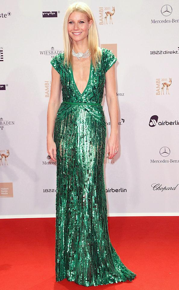 """The actress was a green goddess in a sparkly gown by Elie Saab at Germany's Bambi Awards for media last November. She finished her dazzling look with a diamond choker and a stick-straight glossy hairstyle. (11/11/2011)<div style=""""display:none;"""" class=""""skype_pnh_menu_container""""><div class=""""skype_pnh_menu_click2call""""><a class=""""skype_pnh_menu_click2call_action"""">Call</a></div><div class=""""skype_pnh_menu_click2sms""""><a class=""""skype_pnh_menu_click2sms_action"""">Send SMS</a></div><div class=""""skype_pnh_menu_add2skype""""><a class=""""skype_pnh_menu_add2skype_text"""">Add to Skype</a></div><div class=""""skype_pnh_menu_toll_info""""><span class=""""skype_pnh_menu_toll_callcredit"""">You'll need Skype Credit</span><span class=""""skype_pnh_menu_toll_free"""">Free via Skype</span></div></div>"""