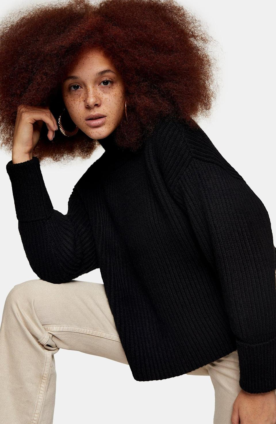 <p><span>Topshop Mock Neck Crop Sweater</span> ($29, originally $68)</p>