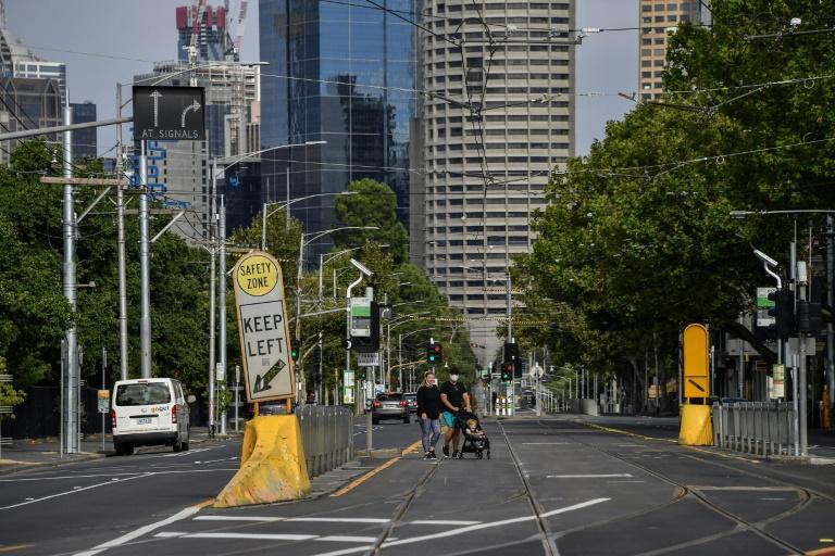 Melbourne was quiet, with just a few people seen on the streets, as the city entered its third lockdown since the pandemic began