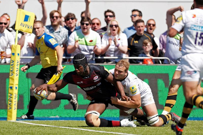 Back   Saracens have reached the Premiership final in four of the past five seasons: REUTERS