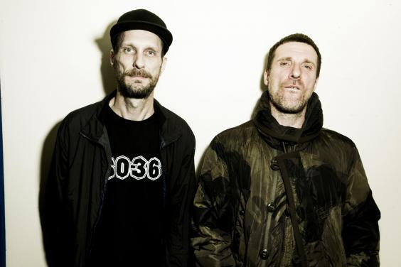 Outsider art: Andrew Fearn (left) and Jason Williamson of Sleaford Mods