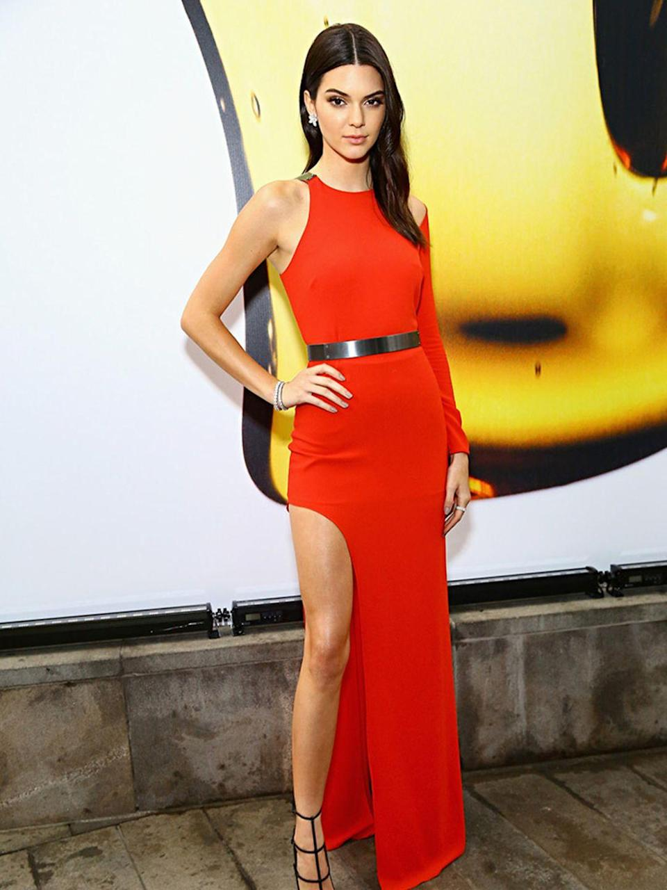 <p>Kendall Jenner in Halston at the Fragrance Foundation Awards, June 2015.</p>