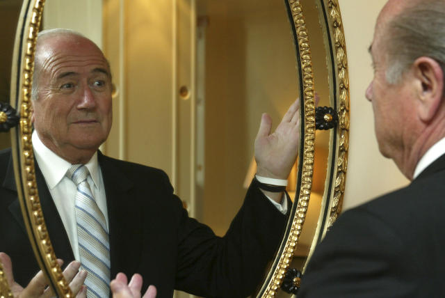 Sepp Blatter's announcement came as a shock to the soccer world. (AP)