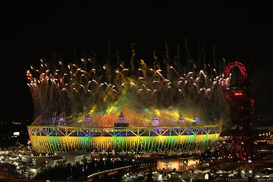 A general view of the Olympic Stadium during the closing ceremony of the 2012 Olympic Games on August 12, 2012 in London, England. (Photo by Quinn Rooney/Getty Images)