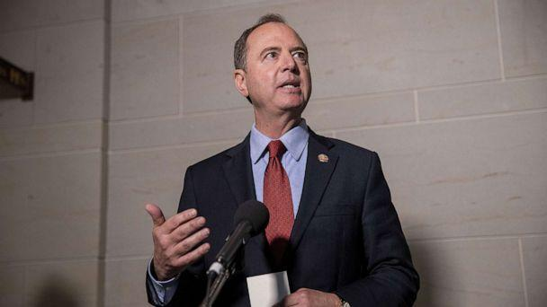 PHOTO: Rep. Adam Schiff, Chairman of the House Select Committee on Intelligence Committee speaks at a press conference at the Capitol on October 08, 2019, in Washington, D.C. (Tasos Katopodis/Getty Images)