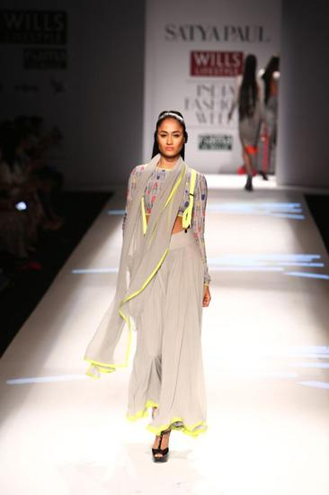 Masaba used her Satya Paul debut to introduce the suspender sari