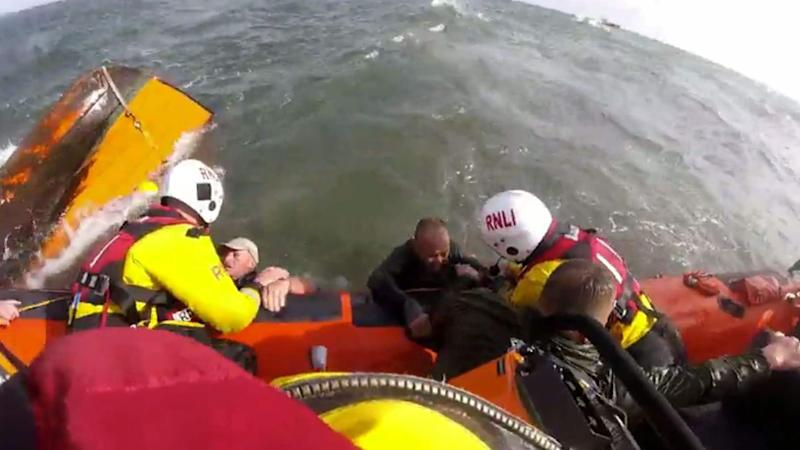 Three fishermen saved by RNLI in dramatic rescue