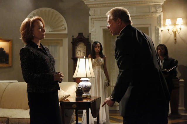 """Defiance"" - Harrison leads the team in managing a billionaire businessman who seems to have lost his sanity; meanwhile, Olivia and the White House prepare to celebrate the President's 50th birthday, as James continues to investigate Cytron and discovers something that could change the fate of the country, on ABC's ""Scandal."""